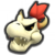 Dry Bowser's icon from Mario Kart Tour