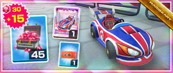 The Swift Jack Pack from the Baby Rosalina Tour in Mario Kart Tour