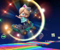 The icon of the Toad Cup challenge from the Tokyo Tour and the Waluigi Cup challenge from the Rosalina Tour in Mario Kart Tour