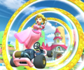 The icon of the Yoshi Cup challenge from the Halloween Tour and the Daisy Cup challenge from the Flower Tour in Mario Kart Tour