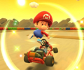 The icon of the Baby Mario Cup challenge from the Ice Tour and the Larry Cup challenge from the 2020 Halloween Tour in Mario Kart Tour