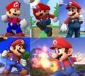 Mario throughout the Super Smash Bros. series.png