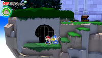 A Not-Bottomless Hole in Shangri-Spa in Paper Mario: The Origami King