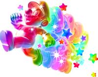 Rainbow Mario from Super Mario Galaxy / Super Mario Galaxy 2