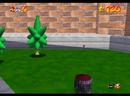 Mario entering the cage of Big Boo's Haunt