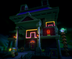 The illustration of Bizarre Doors of Boo Mansion in Captain Toad: Treasure Tracker.