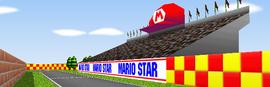 Mario Raceway from Mario Kart 64.