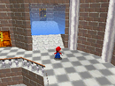 Mario finding the water room's slide