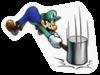 A Sticker of Luigi.