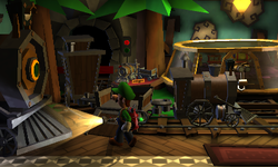 The Train Exhibit in Luigi's Mansion: Dark Moon
