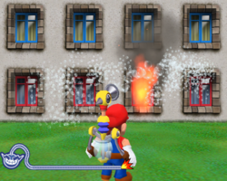Super Mario Sunshine in WarioWare: Smooth Moves.