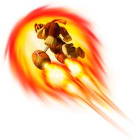 Artwork of Donkey Kong performing a Wild Move from Donkey Kong Barrel Blast