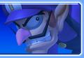 Waluigi's icon from Mario Kart Arcade GP 2