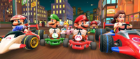 2 Player Challenge Banner: 2nd Anniversary Tour from Mario Kart Tour
