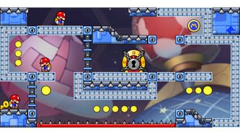 Miiverse screenshot of the 17th official level in the online community of Mario vs. Donkey Kong: Tipping Stars