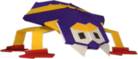An origami Scuttlebug from Paper Mario: The Origami King.