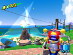 Two Blue Coin in Gelato Beach in the game Super Mario Sunshine.