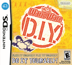 North American cover of the Nintendo DS video game, WarioWare: D.I.Y..