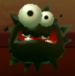 Fuzzy as viewed in the Character Museum from Mario Party: Star Rush