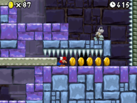 World 8-Tower (New Super Mario Bros.) in the game New Super Mario Bros..