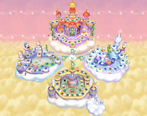 Rainbow Dream as seen in Mario Party 5 during Party Mode.  Image from Gamekult.com