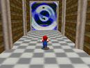 Mario entering the portal of Dire, Dire Docks