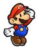 A sticker of Mario in the game Super Smash Bros. Brawl.
