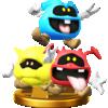 Viruses trophy from Super Smash Bros. for Wii U