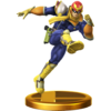 Captain Falcon trophy from Super Smash Bros. for Wii U