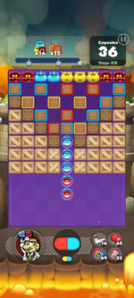 Stage 408 from Dr. Mario World