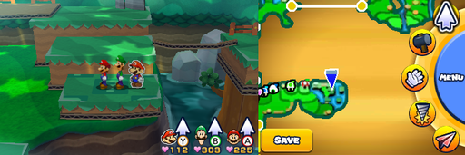 Location of the first item patch in Gloomy Woods.