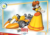 Mario Kart Wii trading card for Daisy.
