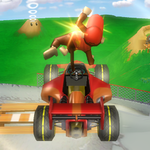 Diddy Kong performing a Trick