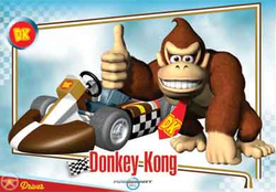 Mario Kart Wii trading card for Donkey Kong.