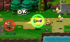Screenshot of the Swing Bros. Bros. Attack in Mario & Luigi: Superstar Saga + Bowser's Minions