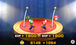 Screenshot of the battle results screen in Mario & Luigi: Superstar Saga + Bowser's Minions
