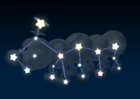 Wiggler's constellation in the game Mario Party 9.
