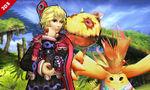 Shulk and Riki in Gaur Plain in Super Smash Bros. for Nintendo 3DS.