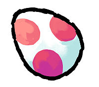 A Red Egg from Yoshi's Island DS