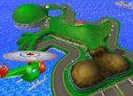 The icon for Yoshi Circuit, from Mario Kart Double Dash!!.