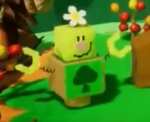 Acorn Forest's Blockafeller in Yoshi's Crafted World.