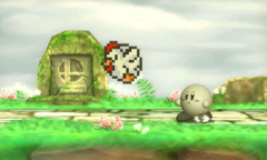 A Cucco from Smash Run in Super Smash Bros. for Nintendo 3DS