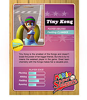Level 1 Tiny Kong card from the Mario Super Sluggers card game