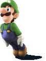 Artwork of Luigi, from Super Smash Bros. for Nintendo 3DS / Wii U.