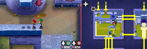 Location of the sixth and seventh beanholes in Peach's Castle.