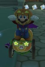 Mario (Halloween) performing a trick.