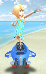 Rosalina (Swimwear) performing a trick.
