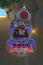 Toad (Party Time) performing a trick.
