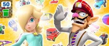 The Baby Rosalina Pipe 2 from the Baby Rosalina Tour in Mario Kart Tour