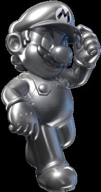 An alternate version of Metal Mario's artwork, from Mario Kart 7.